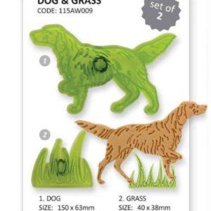 Jem Dog & Grass Set 2