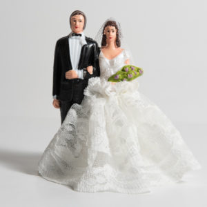 BRIDE & GROOM DRESSED LR