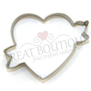 TB Heart With Ribbon 8×1