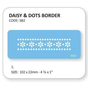 Jem Daisy & Dots Border