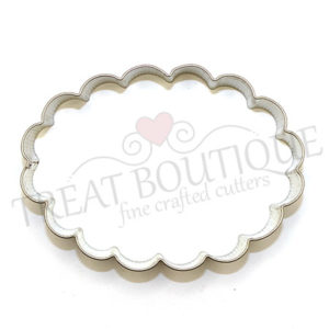 TB Scalloped Oval 10.5×8