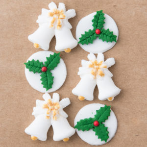 Holly Disc White Bells