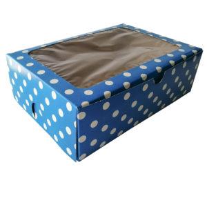 6 Muffin Polka dot Blue