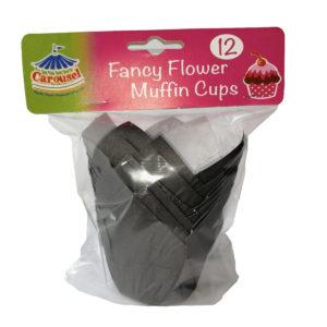 Muffin Cups Black 12s