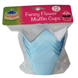 Muffin Cup Light Blue 12