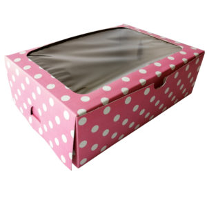 6 Muffin Polka dot Pink